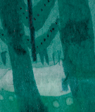 Tête de lit Vert Suzy Vergez Forêt