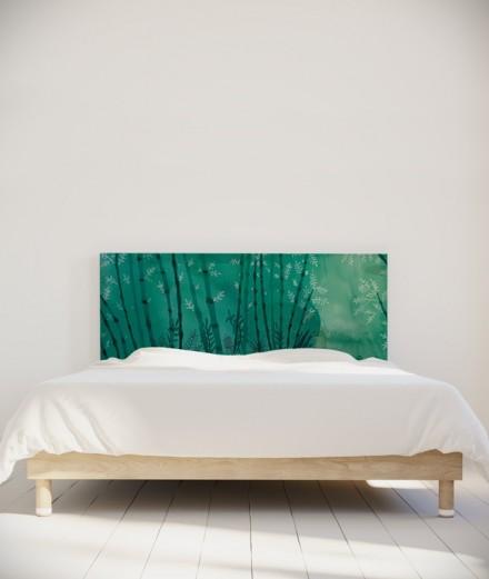 Suzy Vergez tête de lit Forêt