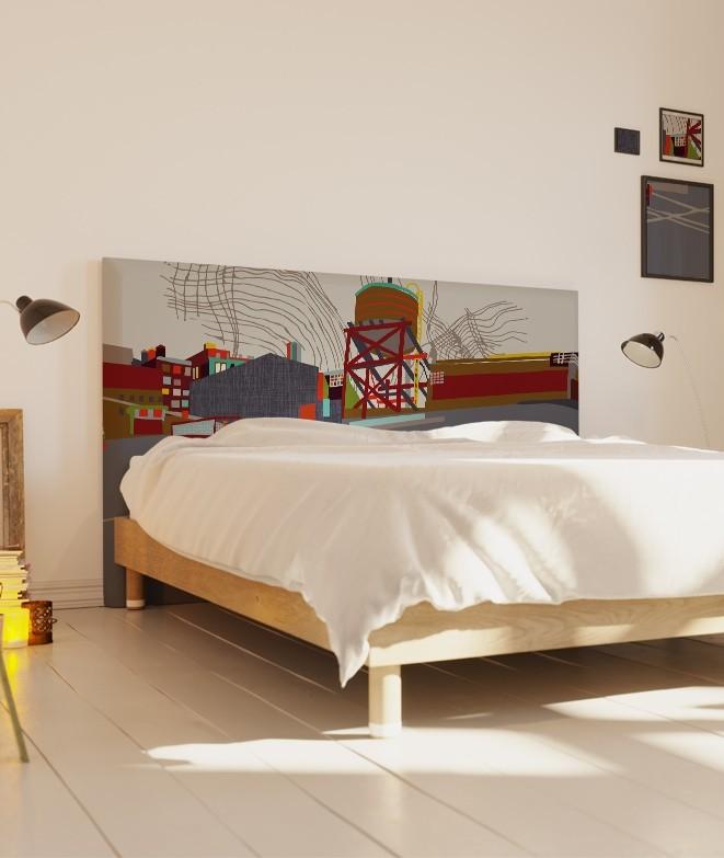 t te de lit style indus meatpacking coco hellein myquintus. Black Bedroom Furniture Sets. Home Design Ideas