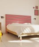 Tête de lit 160 cm Rouge Paraja Marinière