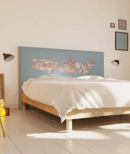 Tête de lit 160 cm Bleu Bastien Massot DS