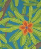 Tête de lit Bleu Jennyfer Yerkes Fleurs d'Inde