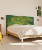 Tête de lit 160 cm Vert Jennyfer Yerkes Fleurs d'Inde