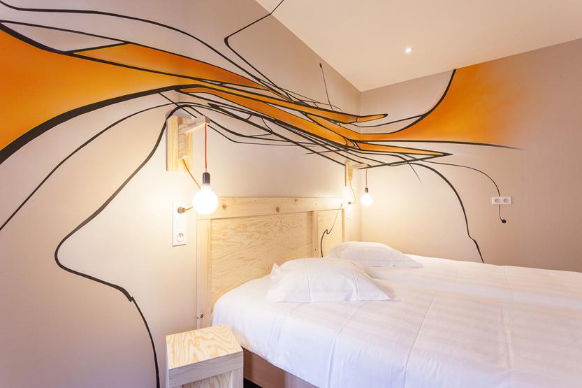 Chambre décorée par Eclisse à l'hôtel Graffalgar à Strasbourg