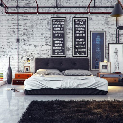 8 id es d co pour une chambre ambiance industrielle myquintus. Black Bedroom Furniture Sets. Home Design Ideas