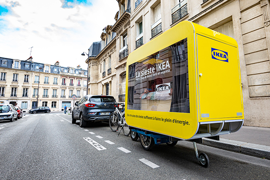 La Sieste IKEA vélo avec chambre amenagée