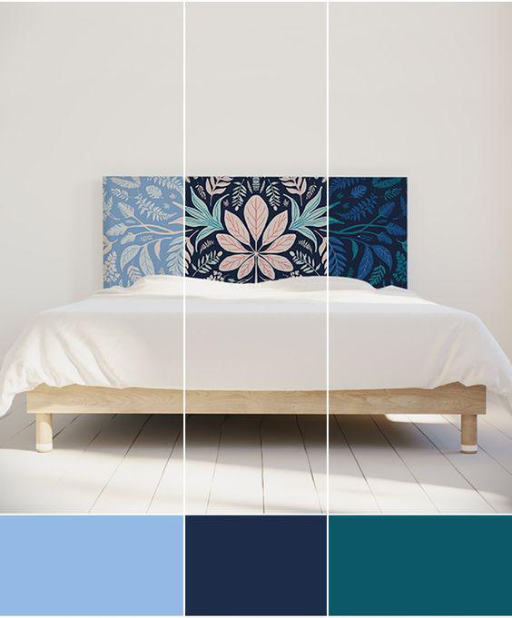 Tête de lit composition florale
