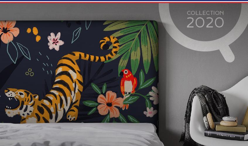 collection 2020 têtes de lit tissu myQuintus