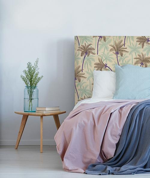 Tête de lit motif palmiers myQuintus - modèle acapulco