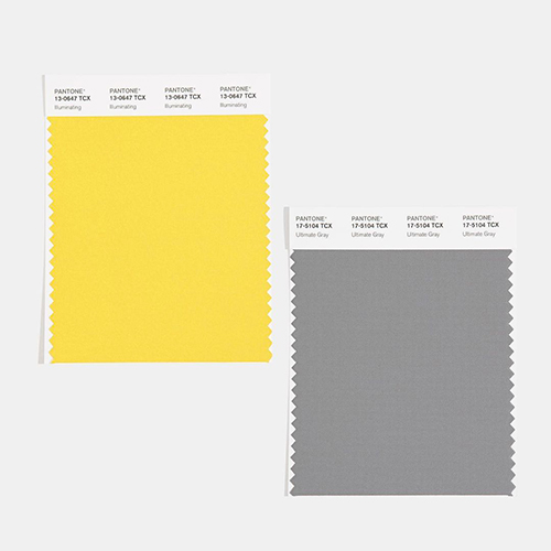 Pantone 2021 illuminating et ultimate gray