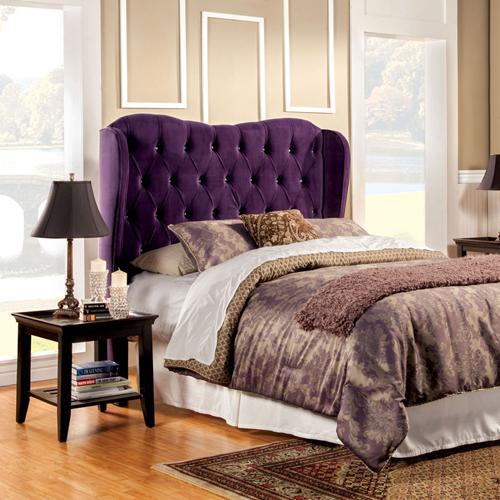 tete-de-lit-tissu-violet-chic-prune