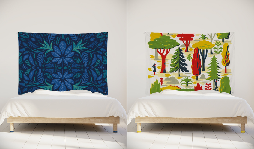 tenture-murale-decoration-chambre-tendance