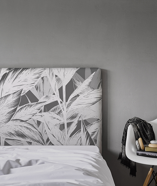 tête de lit déco grise