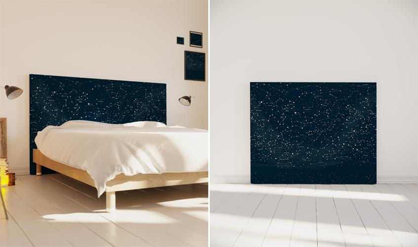 tendance déco : la tête de lit parée de bleu pour une ambiance bord
