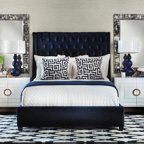 tendance d co la t te de lit par e de bleu pour une ambiance bord de mer myquintus. Black Bedroom Furniture Sets. Home Design Ideas