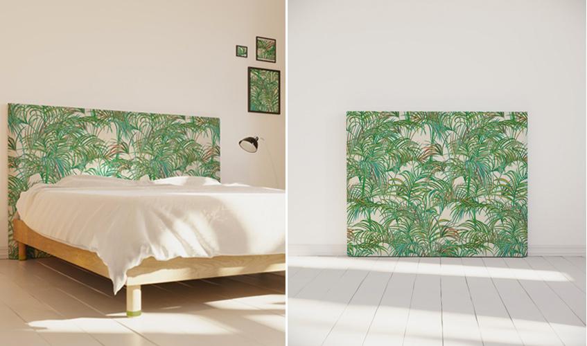 tête de lit déco motif palmiers