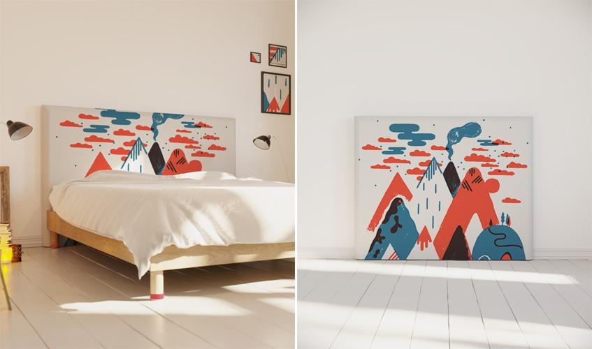 tete de lit enfant deco illustration laurent moreau - Tete De Lit Enfant