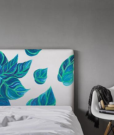 tête de lit décorative motif végétal