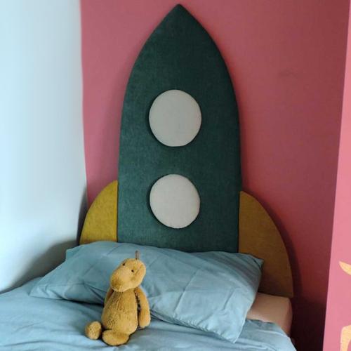 tete de lit enfant deco fusee espace - Tete De Lit Enfant