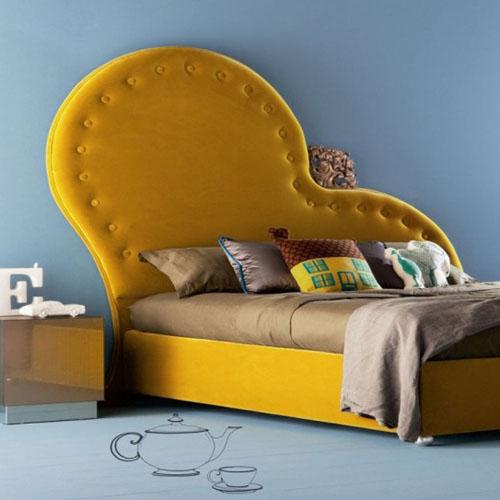 tete-de-lit-jaune-design-original-chambre-lit