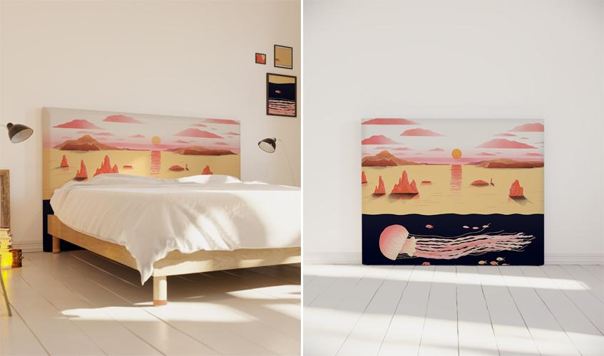 tête-de-lit-deco-living-coral-couleur-pantone-tendance