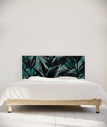 tête de lit tissu motif plantes myQuintus