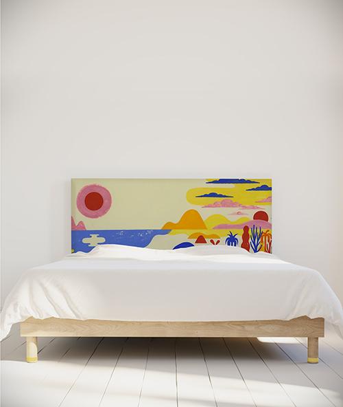 tête de lit déco myQuintus moreau modèle Palm Springs