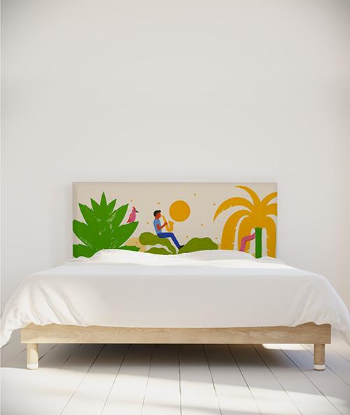 Tête de lit myQuintus - modèle mélopée tropicale