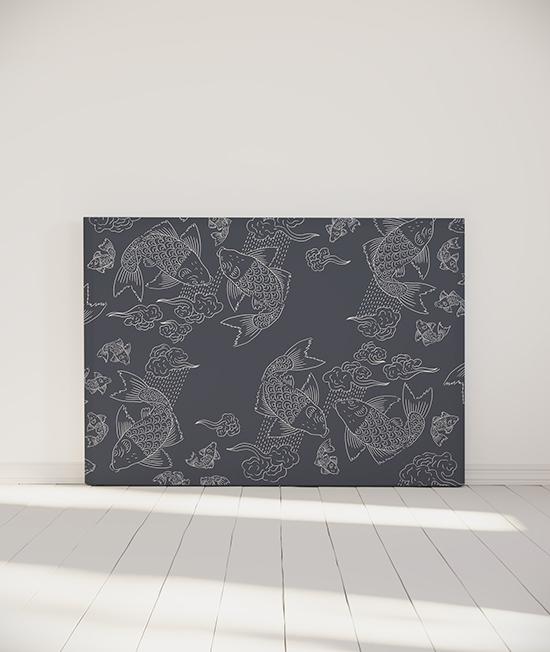 Tête de lit myQuintus modèle banc de poissons