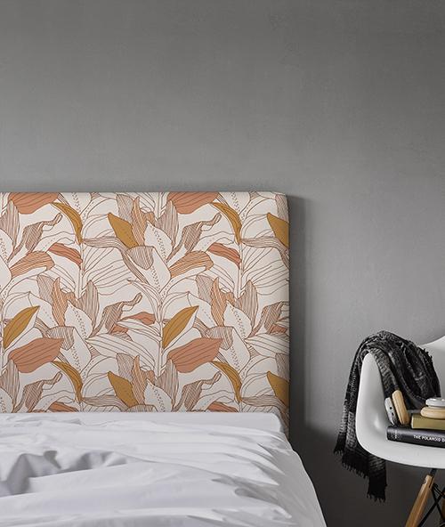 Tête de lit tissu myQuintus modèle Toni