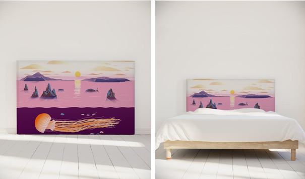 tete-de-lit-jellyfish-sunset-deco-coloree-chambre-enfant