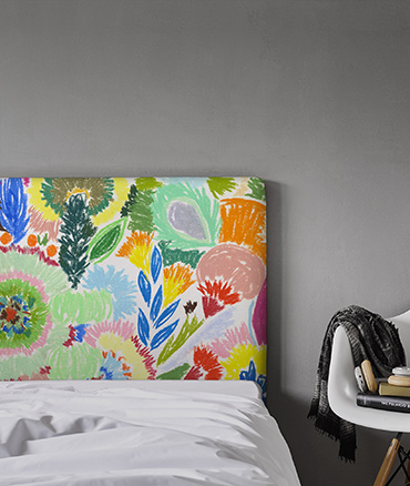 Tête de lit fleurs