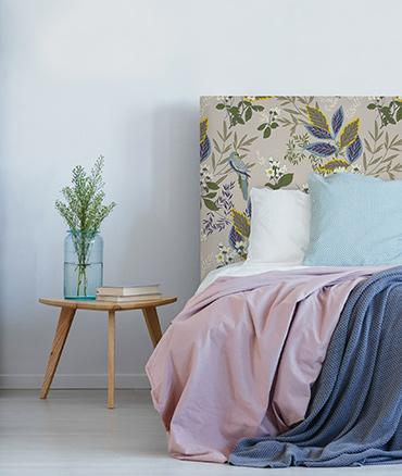 Tête de lit motif floral