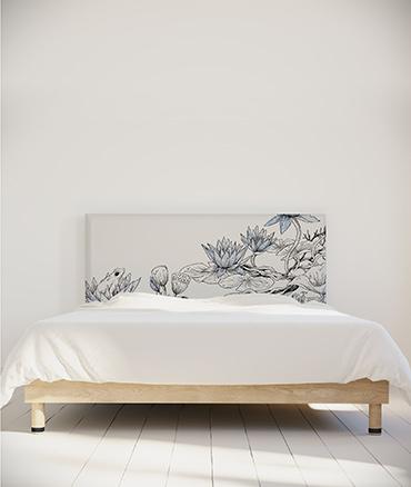 Tête de lit fleur de lotus