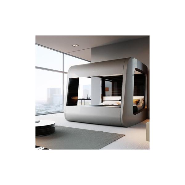 HiCan, le lit high-tech qui transforme la chambre à coucher en une véritable salle de cinéma