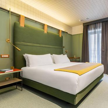 tendance d co la t te de lit verte s invite dans votre chambre pour une vasion en pleine. Black Bedroom Furniture Sets. Home Design Ideas